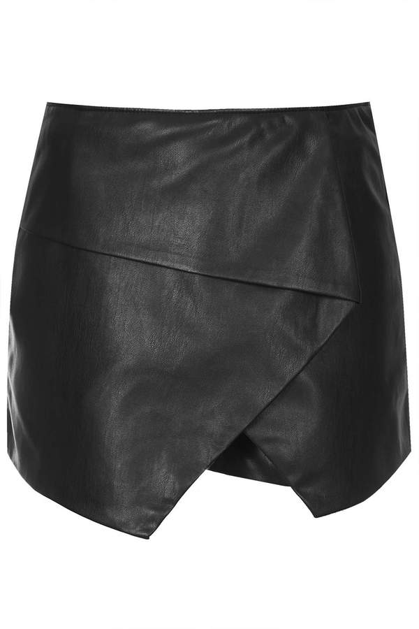 Topshop Pu Asymmetric Wrap Skort | Where to buy & how to wear