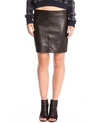 Red 23 Faux Leather Skirt
