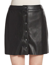 Saks Fifth Avenue RED Faux Leather Paneled Miniskirt