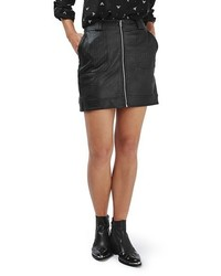 Stitch detail faux leather miniskirt medium 1088027