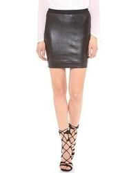 Helmut Lang Stretch Leather Miniskirt