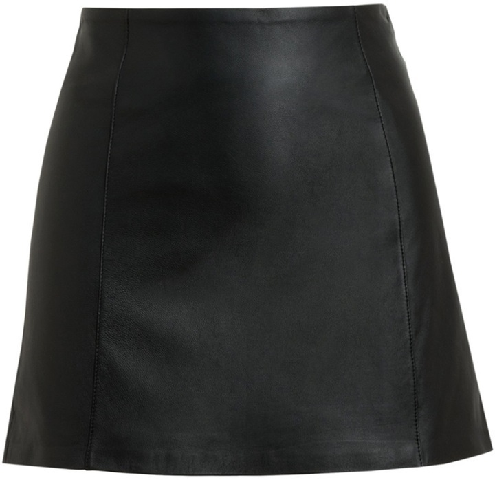 Alexander Wang T By Black Leather Miniskirt