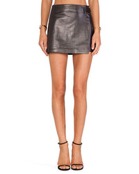 Alexander Wang T By Leather Wrap Skirt