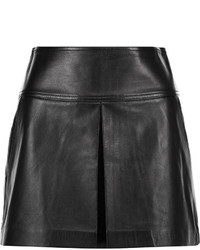 Alexander Wang T By Pleated Leather Mini Skirt