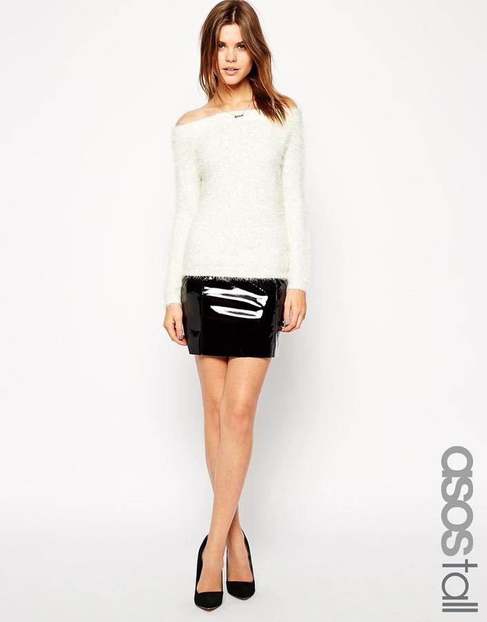 60f10b4d21 ... Leather Mini Skirts Asos Tall Patent Mini Skirt ...