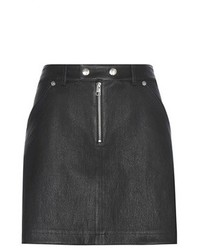 Calvin Klein Jeans To Mytheresacom Leather And Suede Miniskirt