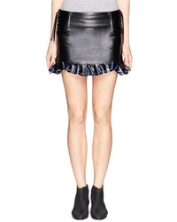 Toga Archives Lace Weave Eyelet Leather Skirt