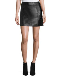 Bishop + Young Vegan Leather Mini Skirt Black