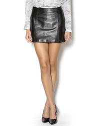 West Coast Leather Side Zip Skirt