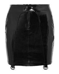 RtA Zander Patent Leather Mini Skirt