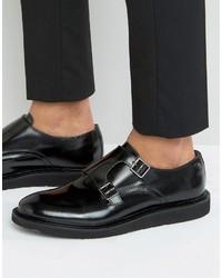 Base London Alfie Leather Monk Shoes