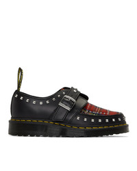 Dr. Martens Black And Multicolor Ramsey Monks