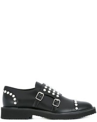 Giuseppe Zanotti Design Stud Embellished Monk Shoes
