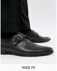 Kg Kurt Geiger Kg By Kurt Geiger Wide Fit Single Monk Shoes In Black