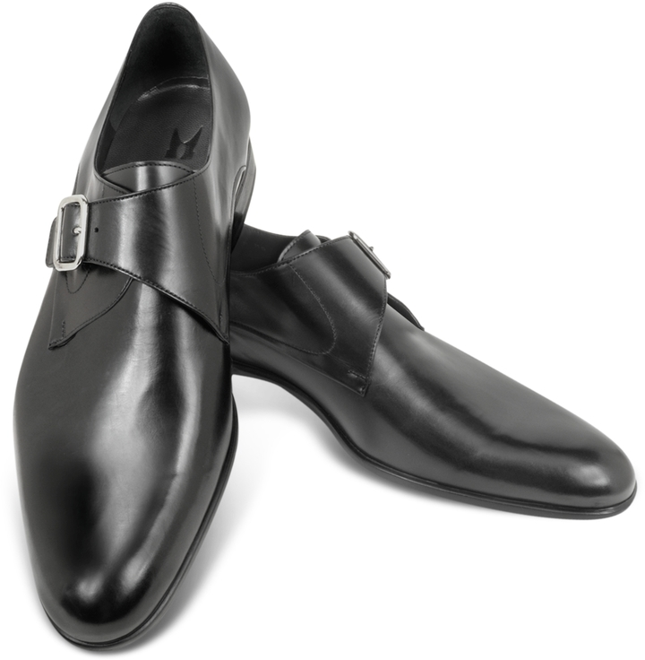 47b4c148df040 $465, Moreschi Kobe Black Leather Monk Strap Shoes