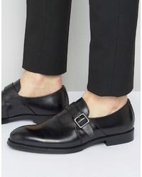 Aldo Korelle Monk Shoes In Black Leather