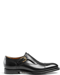 Gucci Leather Perforated Monk Shoe