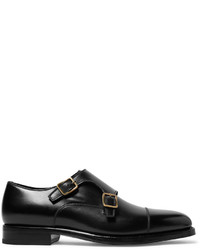 Tom Ford Wessex Cap Toe Leather Monk Strap Shoes