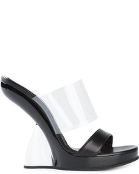 Alexander McQueen Sculpted Wedge Mules