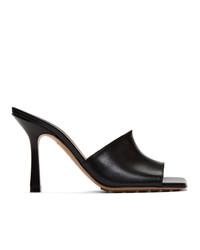 Bottega Veneta Black Band Heeled Mules