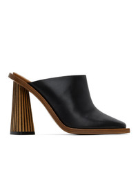 Givenchy Black Carved Mule Heels