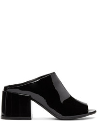 MM6 MAISON MARGIELA Black Cube Heel Mules