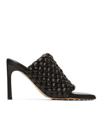 Bottega Veneta Black Intrecciato Curve Heeled Sandals