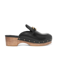 Salvatore Ferragamo Cleome Embellished Leather Mules