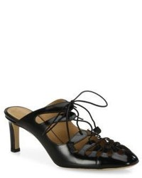 The Row Dixie Leather Lace Up Mules