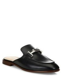 Tod's Double T Leather Slip On Mules