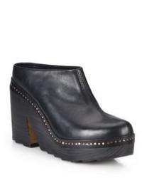 Rag & Bone Esme Studded Leather Platform Clogs