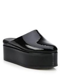 Fendi Fluffyland Patent Leather Platform Mules