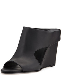 Vince Kaya Leather Wedge Mule Slide Black