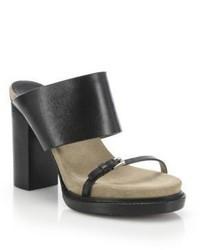 Michael Kors Michl Kors Collection Rita Runway Leather Mules