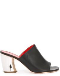 Proenza Schouler Curved Metallic Heel Mules
