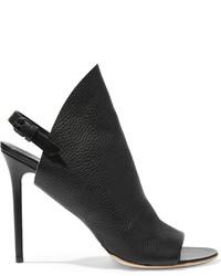 Balenciaga Textured Leather Mules Black