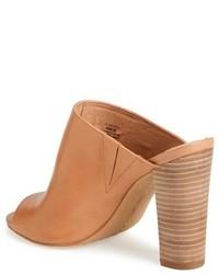 Vince Camuto Vestata Leather Peep Toe Mule