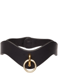 Fleet Ilya Black Leather O Ring Choker