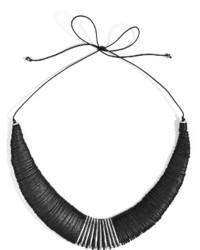 Donna Karan New York Leathermetal Necklace In Black