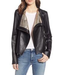LaMarque Metallic Lambskin Leather Jacket