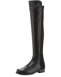 Stuart Weitzman 5050 Leather Over The Knee Boot Black