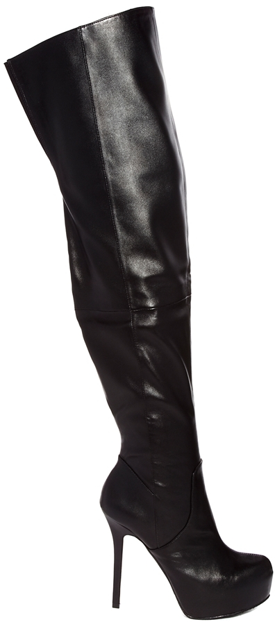 Aldo Fewell Platform Over The Knee Platform Boots Black | Where to ...