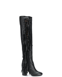 7a92664cc3e Women s Black Leather Over The Knee Boots by Laurence Dacade ...