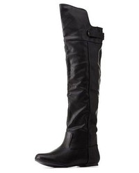 Qupid Back Belted Flat Over The Knee Boots   Where to buy & how to ...