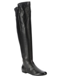 Giuseppe Zanotti Black Leather Balet Side Zip Over The Knee Boots