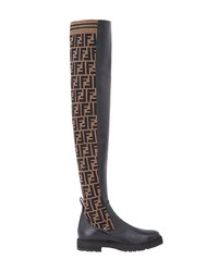 Fendi Double F Thigh High Boots