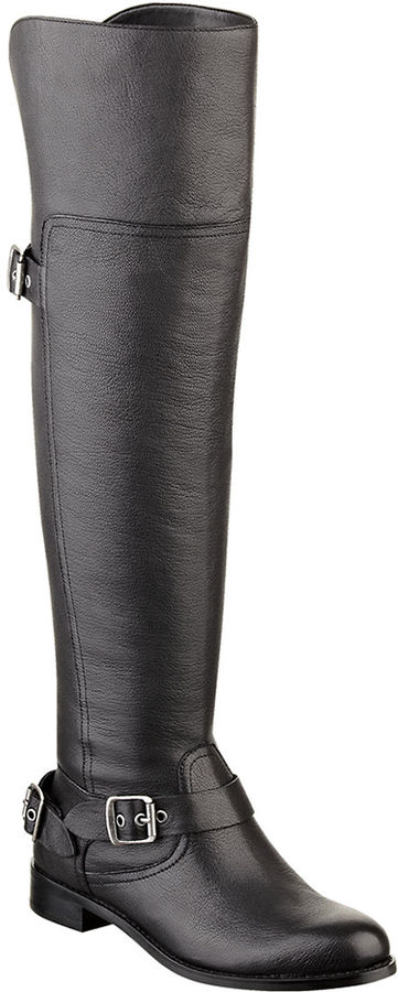 GUESS Igal Leather Over The Knee Boots | Where to buy & how to wear