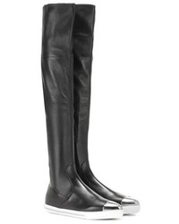 Miu Miu Leather Over The Knee Boot