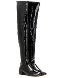 Francesco Russo Leather Over The Knee Boots