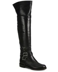 Gianvito Rossi Leather Over The Knee Flat Boots